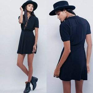 Free People Black Dream Chaser Shirt Dress Size 12